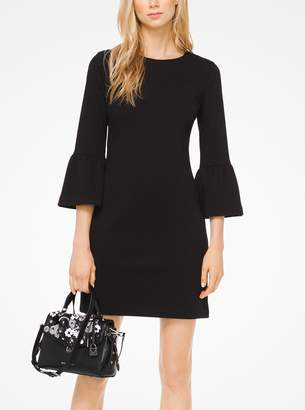 MICHAEL Michael Kors Ribbed Knit Bell-Cuff Dress