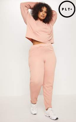 PrettyLittleThing Plus Dusty Coral Drawstring Joggers