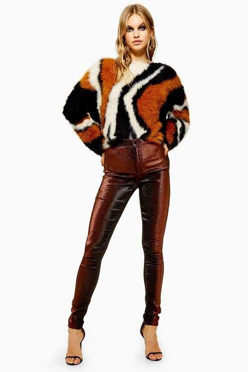 Copper Lurex Joni Jeans