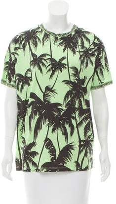 Fausto Puglisi Palm Tree Print Short Sleeve T-Shirt