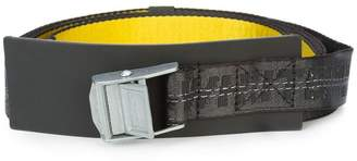 Off-White industrial logo printed buckle belt