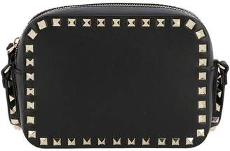 Valentino GARAVANI Mini Bag Rockstud Spike Small Camera Bag In Smooth Leather With Shoulder Strap