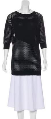 Tess Giberson Scoop Neck Lightweight Sweater Black Scoop Neck Lightweight Sweater