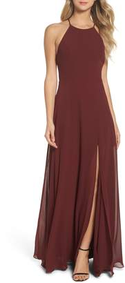 Jenny Yoo Kayla A-Line Halter Gown