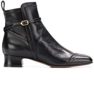L'Autre Chose brogue detail ankle boots