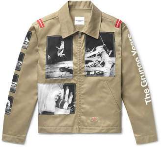 Dickies Takahiromiyashita Thesoloist. + Appliqued Satin-Twill Jacket