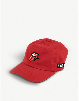 THE ROLLING STONES Logo-embroidered baseball cap