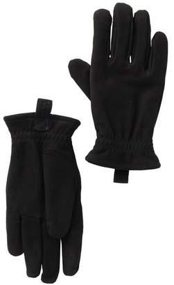 UGG Suede Faux Fur Lined Gloves