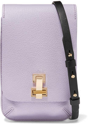 The Volon E Z Mini Textured Leather Shoulder Bag Lilac