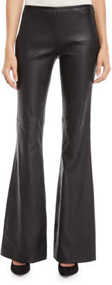 Michael Kors Flared-Leg Plonge Leather Pants