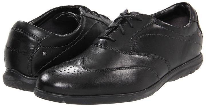 Rockport Style Side Wing Tip (Black) - Footwear