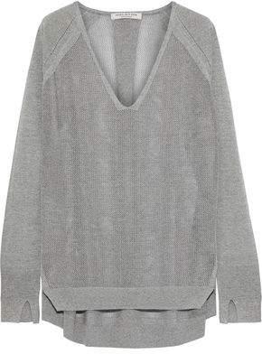 Halston Oversized Melange Knitted Sweater