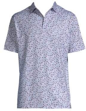 Peter Millar Beer-Print Short-Sleeve Polo