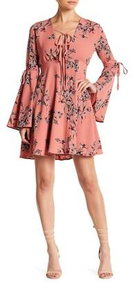 Endless Rose Azalea Long Bell Sleeve Floral Dress