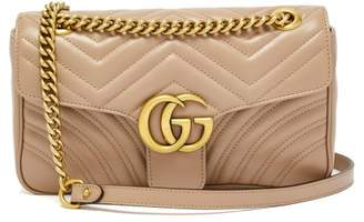 Gucci - Gg Marmont Small Quilted Leather Shoulder Bag - Womens - Nude