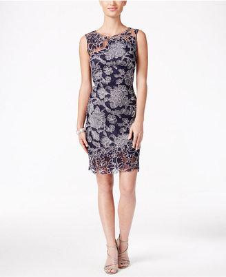 Tadashi Shoji Floral Embroidered Sheath Dress $379 thestylecure.com