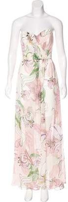 Erin Fetherston ERIN by Floral Print Strapless Dress w/ Tags