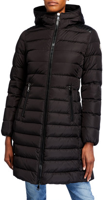 Moncler Talev Long Puffer Coat w/ Hood