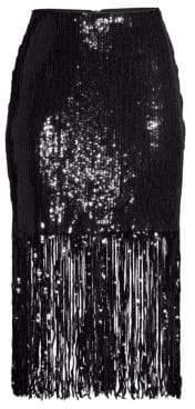 Nanette Lepore Parade Sequin Fringe Skirt