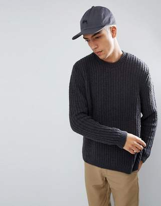 Asos Relaxed Fit Sweater In Charcoal