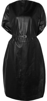 MM6 MAISON MARGIELA Belted Leather Dress - Black