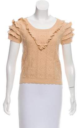 Sonia Rykiel Sonia by Ruffle Accented Knit Top
