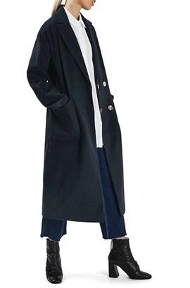 Women's Topshop Longline Slouch Coat $150 thestylecure.com