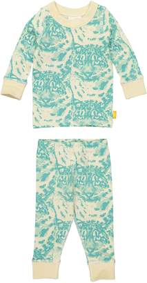 Masala Baby Cat Camo Organic Cotton Fitted Two-Piece Pajamas