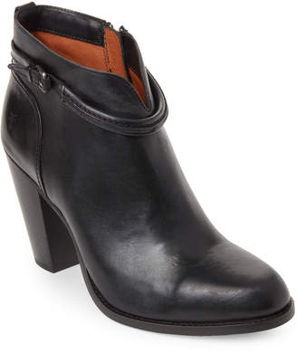 Frye Black Jenny Seam Short Leather Booties