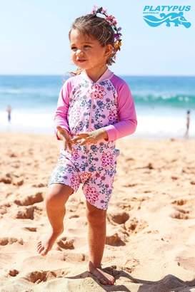 Girls Platypus Australia Secret Garden Baby Sunskirt Suit - Pink