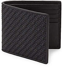 Ermenegildo Zegna Men's Woven Leather Billfold Wallet