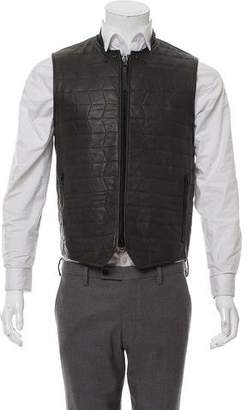 Lanvin Quilted Leather Vest