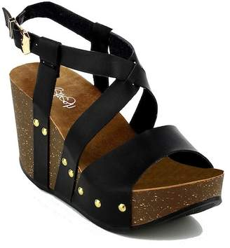 Refresh Mara Strappy Wedge $55.99 thestylecure.com