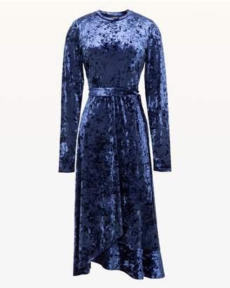 Juicy Couture Crushed Velvet Wrap Midi Dress