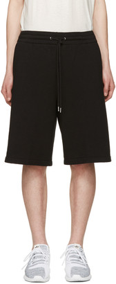 T by Alexander Wang Black Lounge Shorts $185 thestylecure.com