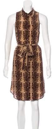 Equipment Silk Animal Print Dress