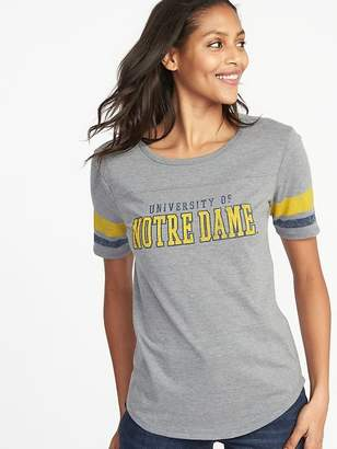 Old Navy College-Team Graphic Sleeve-Stripe Tee for Women