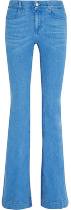 Stella McCartney - Mid-rise Flared Jeans - Blue $390 thestylecure.com