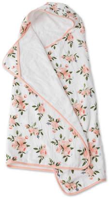 Little Unicorn Watercolor Roses Cotton Muslin Big Kid Hooded Towel