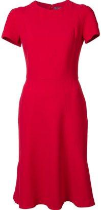Alexander McQueen short sleeve flared dress $1,645 thestylecure.com