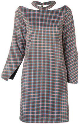 Aalto checked cut out dress