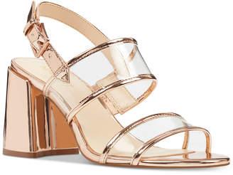 Nine West Gourdes Vinyl City Sandals Women's Shoes