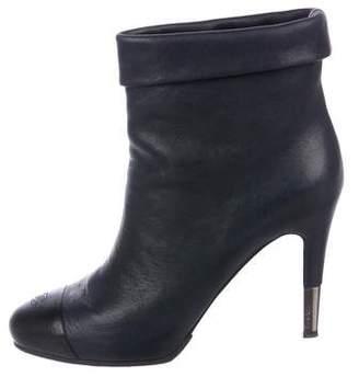 Chanel CC Cap Toe Boots