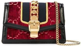 Gucci Sylvie GG velvet crossbody bag
