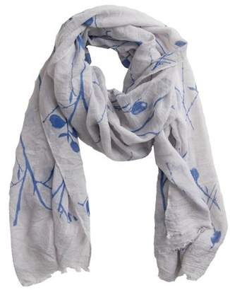 """Tickled Pink Branches and Flowers Scarf, 30"""" x 70"""", 35% Cotton; 65% Polyester, Multiple Colors"""