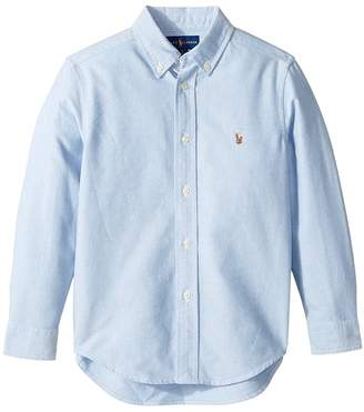 Polo Ralph Lauren Cotton Oxford Sport Shirt Boy's Long Sleeve Button Up