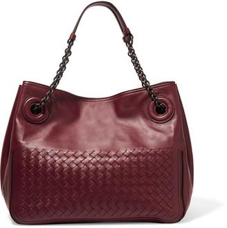 Bottega Veneta - Intrecciato Leather Tote - Burgundy $2,850 thestylecure.com