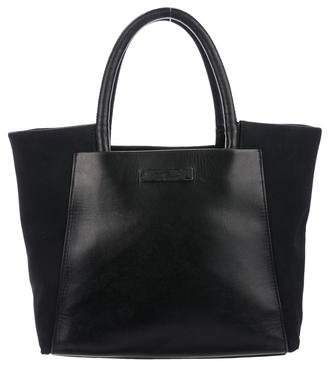 Tumi Leather Trimmed Satchel