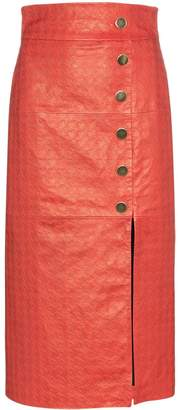 Skiim Lucy houndstooth pencil skirt