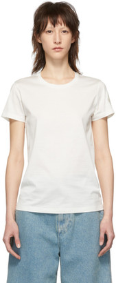 Moncler White Tonal Logo T-Shirt